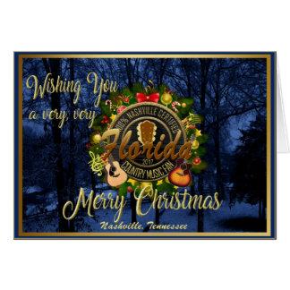 Cartes Joyeux Noël à une fan de musique country de la
