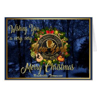 Cartes Joyeux Noël à une fan de musique country de New