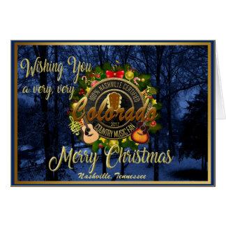 Cartes Joyeux Noël à une fan de musique country du