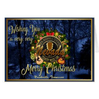 Cartes Joyeux Noël à une fan de musique country du Nevada