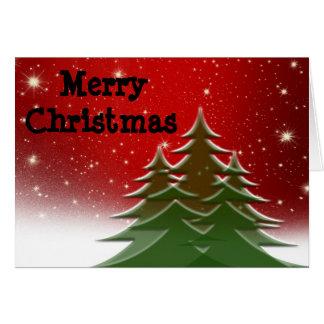 Cartes Joyeux Noël, arbres, de notre famille