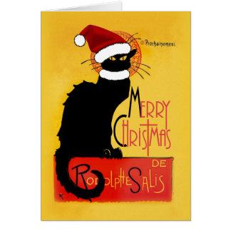 Cartes Joyeux Noël - conversation Noir