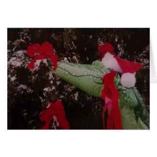 Cartes Joyeux Noël d'alligator