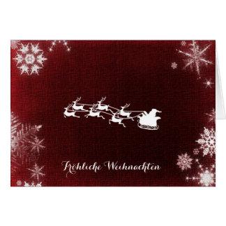 Cartes Joyeux Noël de Fröhliche Weihnachten