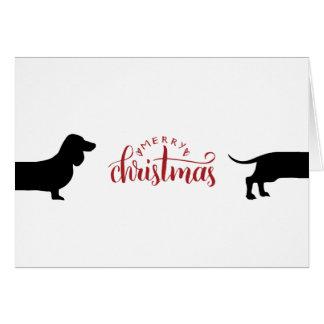 Cartes Joyeux Noël de joli teckel