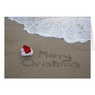 Cartes Joyeux Noël de la plage