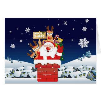 Cartes Joyeux Noël de l'équipage de Père Noël