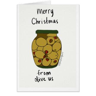 Cartes Joyeux Noël d'olive nous !