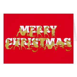 Cartes Joyeux Noël écrit dans les poneys !