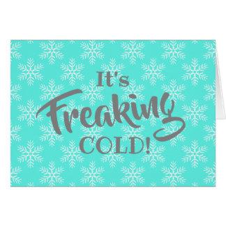 Cartes Joyeux Noël froid Freaking drôle
