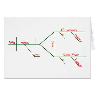Cartes Joyeux Noël grammaticalement Diagrammed EDITABLE