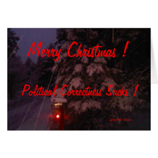 Cartes Joyeux Noël ! L'exactitude politique suce !