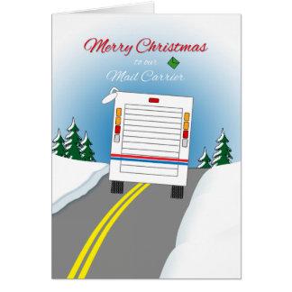 Cartes Joyeux Noël Mailtruck pour le transporteur de