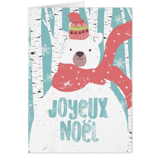 Cartes Joyeux Noël Ours blanc