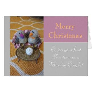 Cartes Joyeux Noël pour nouvellement un couple d'épouser
