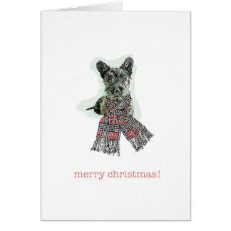 Cartes Joyeux Noël Scotty Terrier écossais