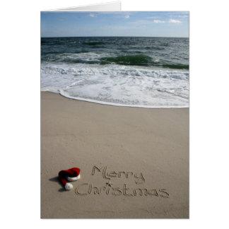 Cartes Joyeux Noël sur les étoiles de mer d'océan de