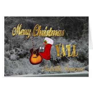 Cartes Joyeux Noël Yall Nashville Tennessee