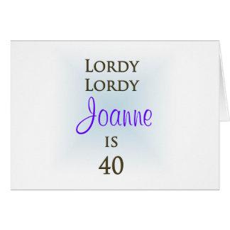 Cartes Joyeux quarantième anniversaire