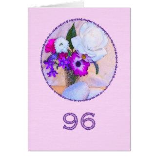 Cartes Joyeux quatre-vingt-seizième anniversaire avec une