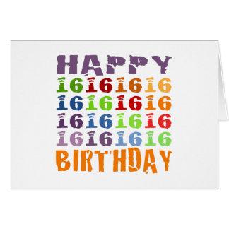 Cartes Joyeux seizième anniversaire !