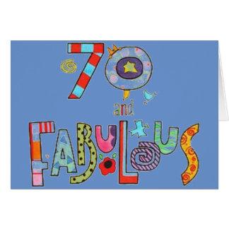 Cartes Joyeux soixante-dixième anniversaire fabuleux à 70