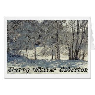 Cartes Joyeux solstice d'hiver