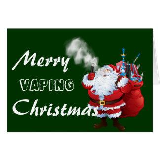 Cartes Joyeux Vaping Père Noël Noël de VAPE |