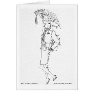 Cartes Jubilé de cerises d'Aquarelle de mode de poupée de