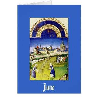 Cartes Juin - la baie de Tres Riches Heures du Duc De