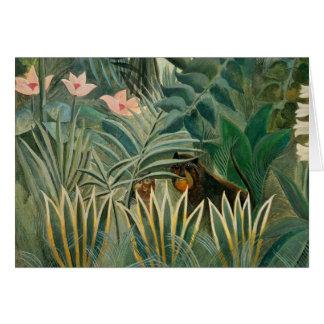 Cartes Jungle équatoriale, 1909 (huile sur la toile)