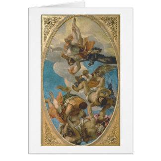 Cartes Jupiter heurtant en bas des vices (huile sur la