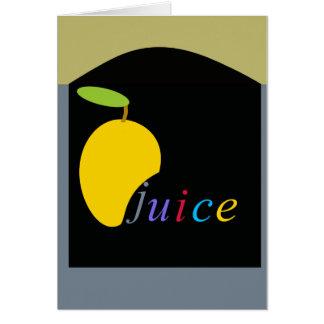 Cartes jus de mangue