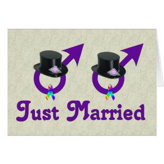 Cartes Juste mâle gai formel marié