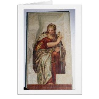 Cartes Justice, des murs de la sacristie (fresque)