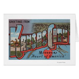 Cartes Kansas City, Missouri (coeur)