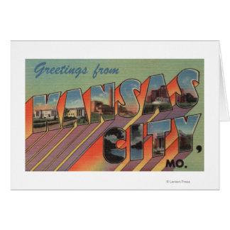 Cartes Kansas City, Missouri - grandes scènes de lettre