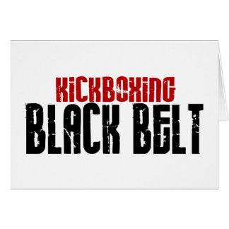 Cartes Karaté de ceinture noire de Kickboxing