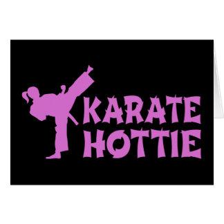 Cartes Karaté Hottie - rose martial femelle d'artiste