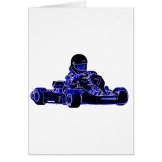 Cartes Kart emballant le bleu et le blanc