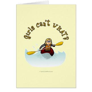 Cartes Kayaker féminin blond