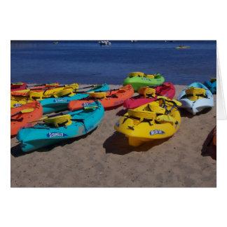 Cartes Kayaks colorés