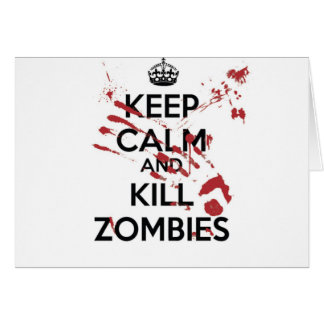 Cartes Keep Calm and Kill Zombies