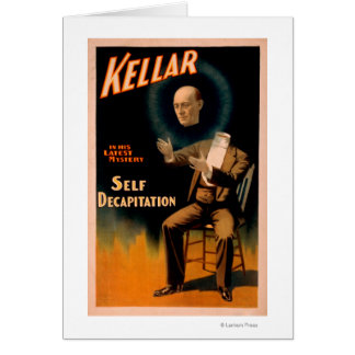 Cartes Kellar exécutant la magie de décapitation