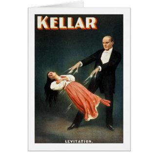 Cartes Kellar la lévitation de magicien - annonce vintage