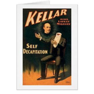 Cartes Kellar le magicien - décapitation d'individu - cru
