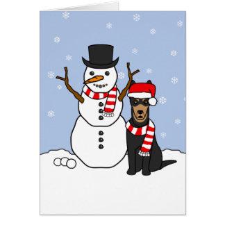 Cartes Kelpie et bonhomme de neige australiens