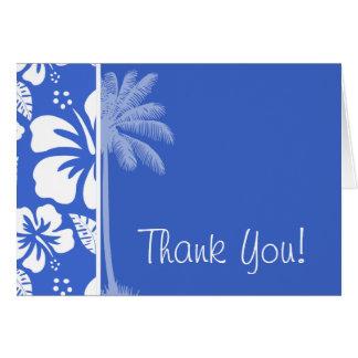 Cartes Ketmie tropicale hawaïenne bleue de Han ; Paume