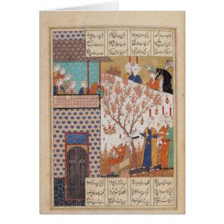 Cartes Khosro avant le palais de Shirin