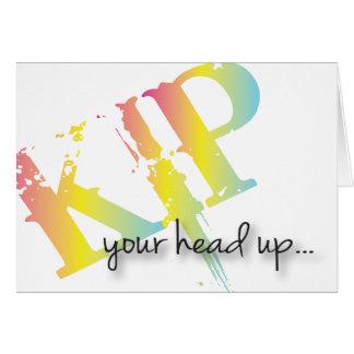 Cartes Kip votre tête obtiennent l'acrd bon